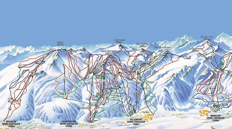 Serre-Chevalier-piste-map